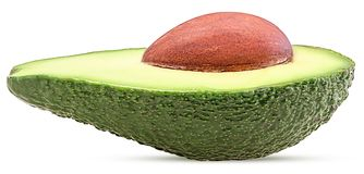 Avocado cut in half Royalty Free Stock Photos