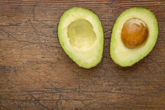 Avocado cut in half Stock Image
