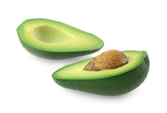 Avocado Cut in Half with Seed Stock Image