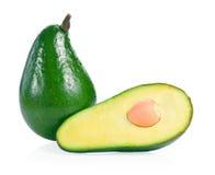 Avocado die op een witte achtergrond wordt ge?soleerd Stock Afbeelding