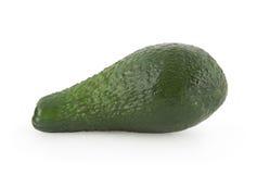Avocado die op wit wordt geïsoleerd stock foto's