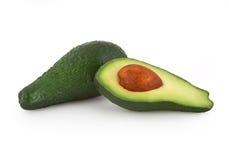 Avocado die op wit wordt geïsoleerd stock foto