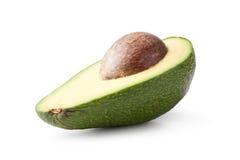 Avocado die op wit wordt ge?soleerd stock foto