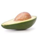 Avocado die op witte achtergrond wordt geïsoleerd Stock Afbeelding