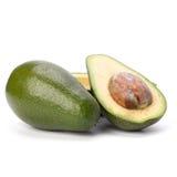 Avocado die op witte achtergrond wordt geïsoleerde Royalty-vrije Stock Afbeeldingen