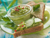 Avocado dip- close up Royalty Free Stock Images