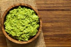 Avocado Dip or Guacamole Stock Photo