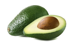 Avocado double set seed isolated on white background Royalty Free Stock Photography