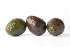 Avocado drie in een rij Royalty-vrije Stock Afbeelding