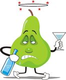 Avocado drunk Stock Image