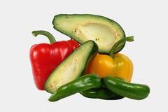 Avocado e pepe Fotografia Stock Libera da Diritti