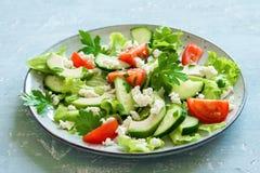 Avocado ed insalata dei pomodori Fotografia Stock