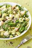 Avocado ed insalata di pollo Fotografie Stock