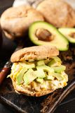 Avocado and egg sandwich Royalty Free Stock Image