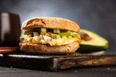 Avocado and egg sandwich Royalty Free Stock Photo