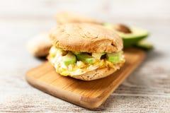 Avocado and egg sandwich Stock Photos