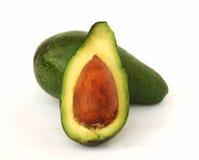 Avocado en zijn sectie Stock Foto's