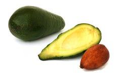 Avocado en zijn sectie Stock Foto