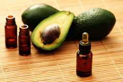 Avocado essential oil Stock Image