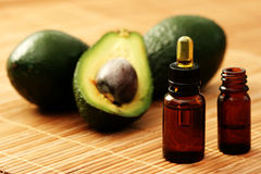 Avocado essential oil Royalty Free Stock Photo