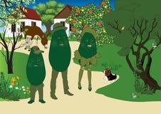 Avocado-Familie vektor abbildung