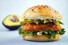 Avocado fish sandwich Stock Photography
