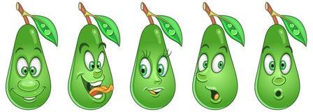 Avocado. Food Emoji Emoticon collection royalty free stock image