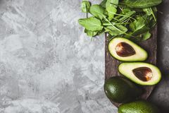 Avocado. Food on the table Stock Photography