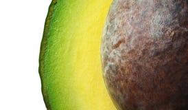 Avocado fresco con il seme (macro) Fotografia Stock