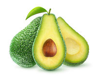 Isolated avocado royalty free stock images