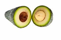 Avocado fruit. Avocado fruit cross section isolated over white background Royalty Free Stock Photography