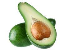 Avocado fruit. With slice on white background Stock Photo