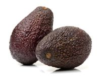 Avocado fruit. Detail of the interior and seed. It is very Stock Photography