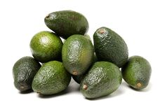 Avocado fruit. Detail of the interior and seed. It is very healthy and delicious Stock Images