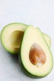 Avocado fruit with bone Stock Photos