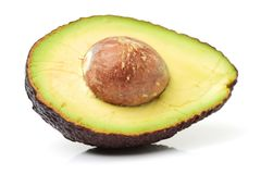 Avocado fruit. Detail of the interior and seed. It is very Royalty Free Stock Image