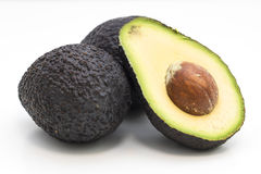 Avocado. Fruit , detail of the interior and seed. It is very healthy and delicious