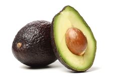 Avocado fruit. Detail of the interior and seed. It is very healthy and delicious Royalty Free Stock Images