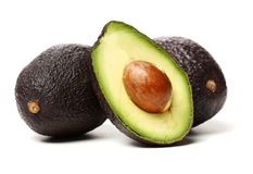 Avocado fruit. Detail of the interior and seed. It is very healthy and delicious Stock Photography