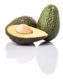 Avocado Fruit III. Ripe avocado fruit over white background Royalty Free Stock Photography