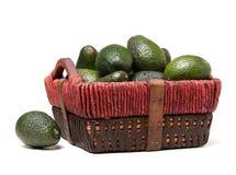 Avocado fruit ,. Isolated on a white background Royalty Free Stock Photo