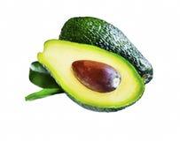 Avocado fruit with leaf isolated Royalty Free Stock Photo