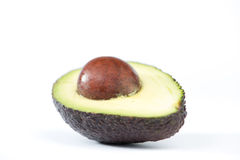 Avocado fruit on white Royalty Free Stock Photos