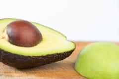 Avocado fruit on wood Stock Photo