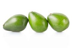 Avocado fruits group on white Stock Photo