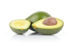 Avocado fruits isolated on white. Studio shot of avocado fruits isolated on white Stock Photography
