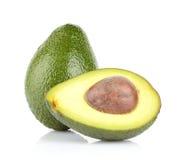 Avocado fruits isolated on white. Studio shot of avocado fruits isolated on white Royalty Free Stock Photo