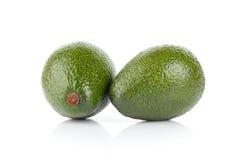 Avocado fruits isolated on white. Studio shot of two avocado fruits isolated on white Royalty Free Stock Photos
