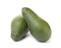 Avocado fruits on white background Royalty Free Stock Photos