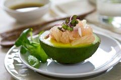 Avocado and Grapefruit salad Stock Image